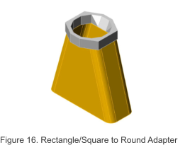 Figure 16. Rectangle/Square to Round Adapter