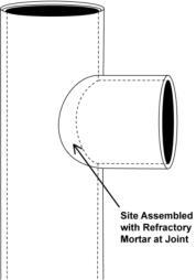 Clay Chimney Liner, Clay Flue Liner, Round Flue Liner