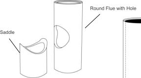 Saddle Round Flue with Hole