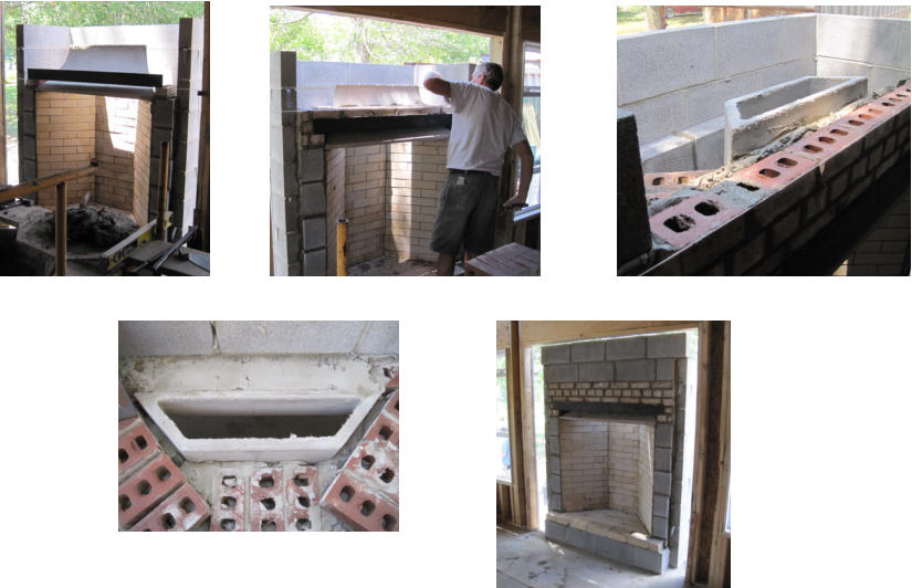 Rumford Fireplace Construction Photo Gallery