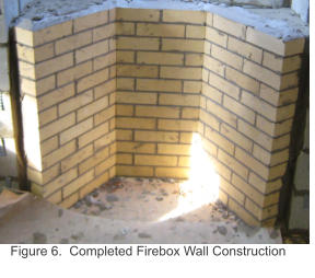 Figure 6.  Completed Firebox Wall Construction