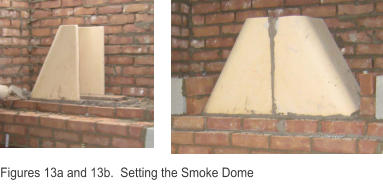 Figures 13a and 13b.  Setting the Smoke Dome