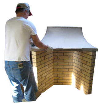 Rumford fireplace kits for indoor fireplaces and outdoor for Rumford fireplace kits
